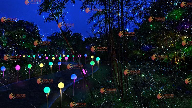 景区夜游森林投影