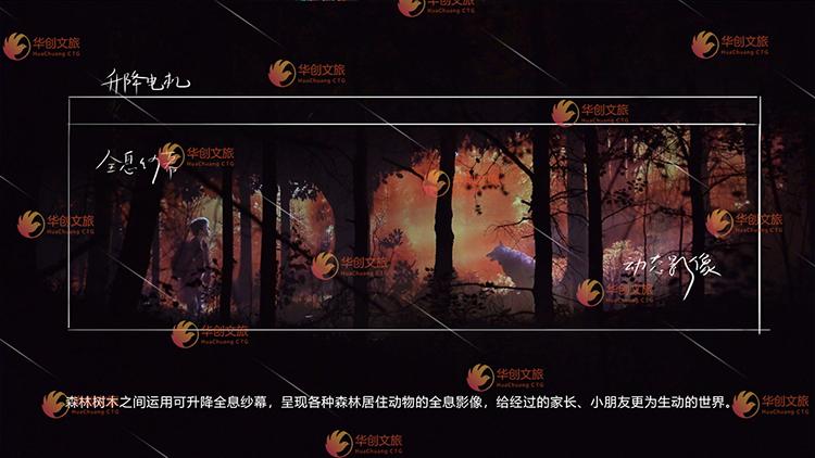 景区夜游全息森林投影