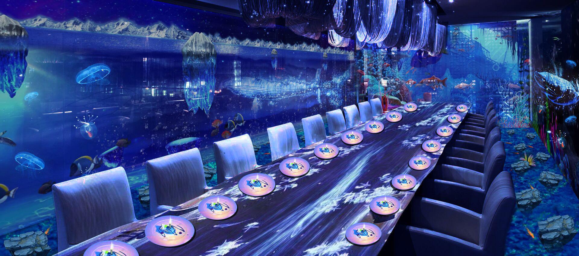 数字光影餐厅,华创文旅沉浸式互动餐厅投影