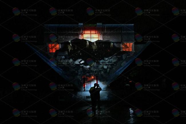 旅游景区夜游全息建筑投影秀