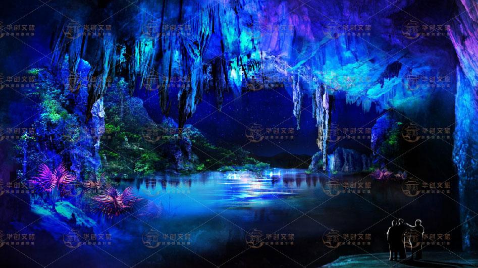 旅游景区溶洞投影