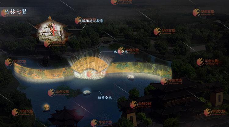 华创文旅打造文旅景区夜游全息投影策划