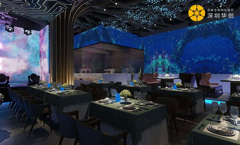 华创文旅全息网红餐厅投影创新