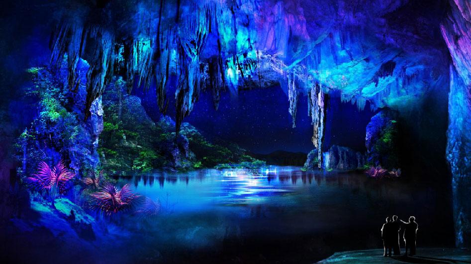 江西分宜溶洞旅游景区溶洞投影