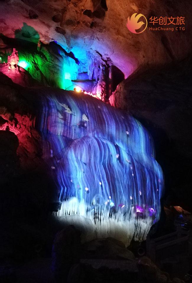 多媒体全息投影艺术打造溶洞投影旅游新体验