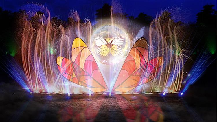 葛仙村国际旅游度假区景区夜游全息投影策划