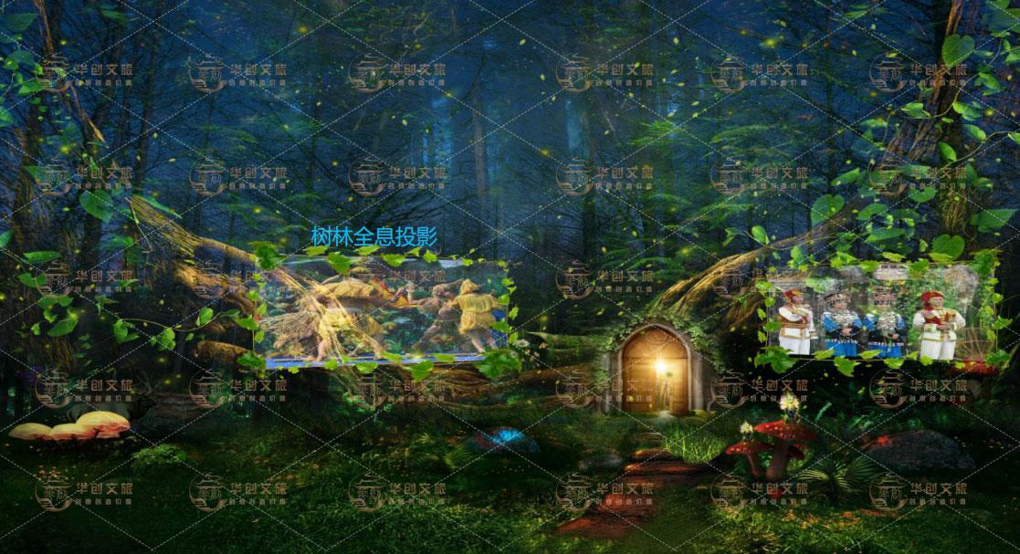 文旅景区夜游奇幻森林投影