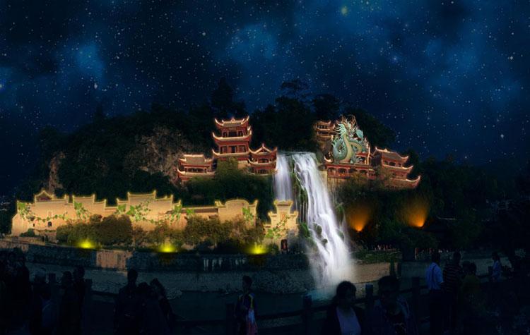 镇远青龙洞古建筑群全息投影方案策划
