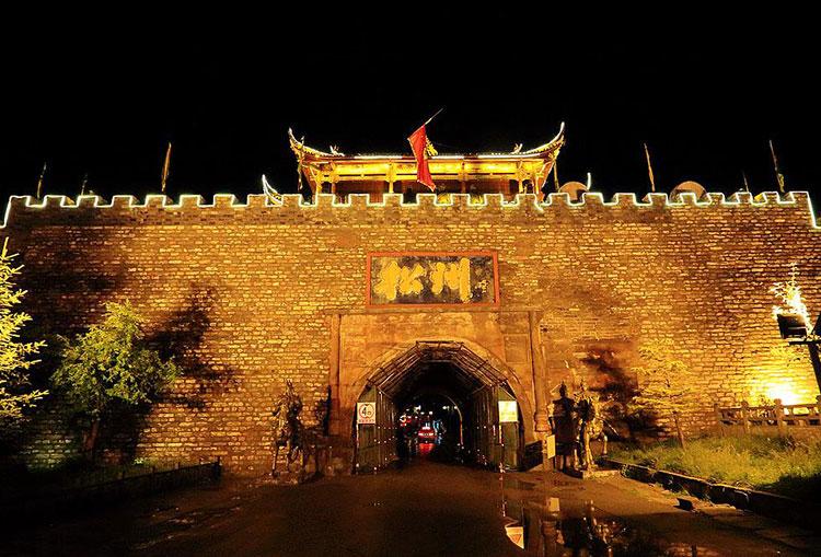 松州古城景区夜游建筑投影策划